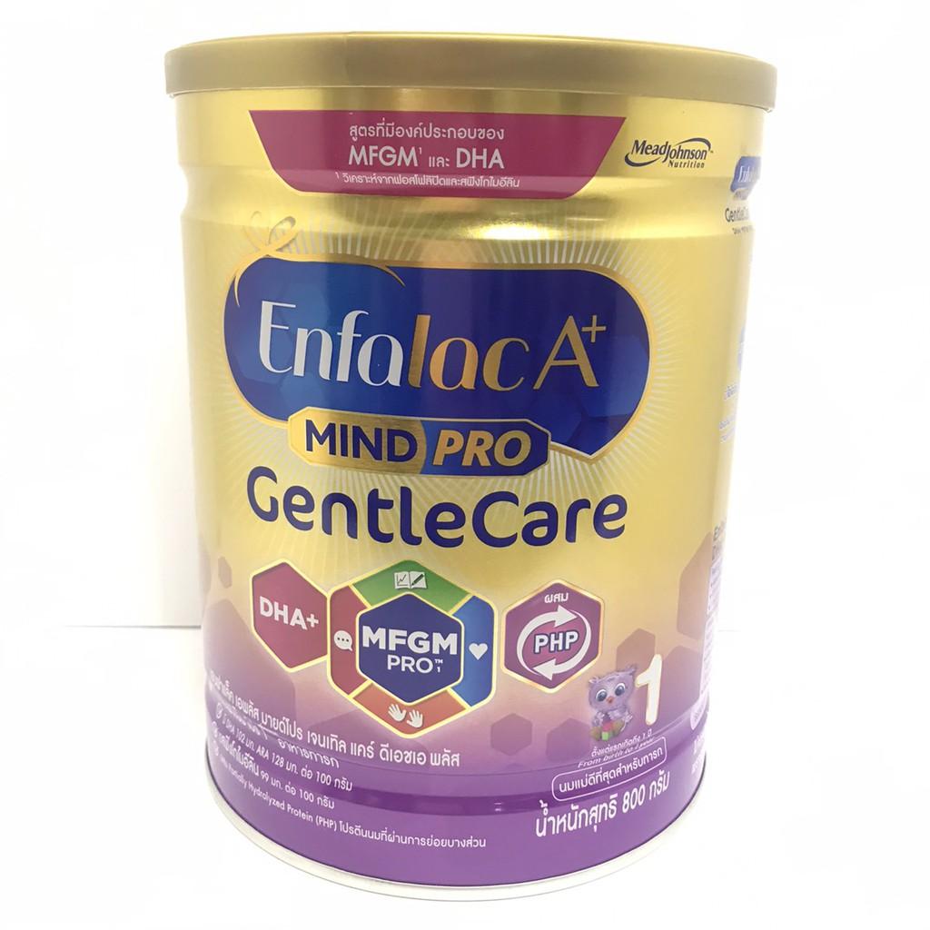 Enfalac เอนฟาแล็คเอพลัส เจนเทิลแคร์ นมผง สูตรพิเศษ สำหรับเด็กแรกเกิด - 1 ปี 800 กรัม (1กระป๋อง)