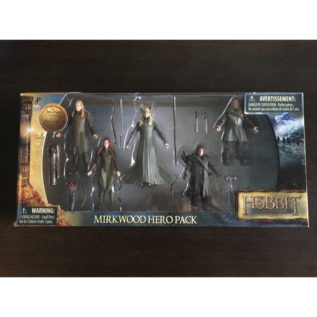 The Hobbit Action Figure 1:18, Legolas, Tauriel, Thranduil, Fili, Kili