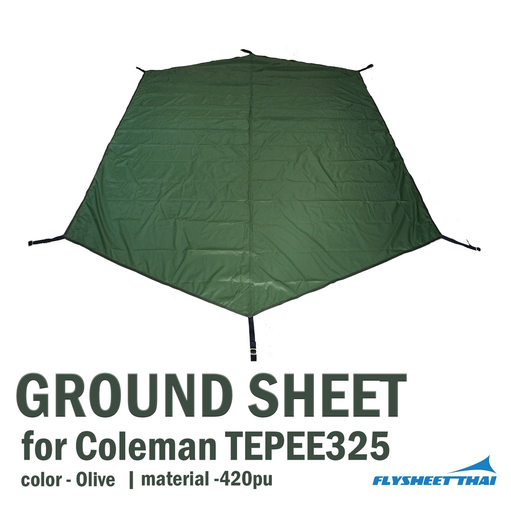 GROUND SHEET FOR COLEMAN TEPEE325    (มีของพร้อมส่ง)