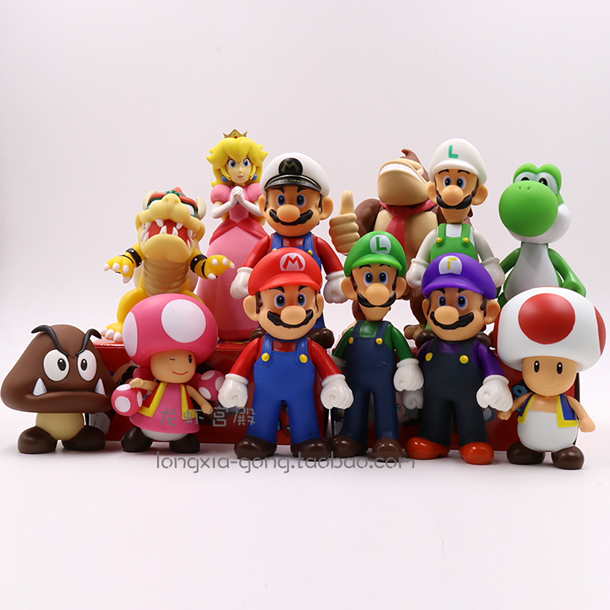 ฟิกเกอร์การ์ตูนอนิเมะนำเข้าSurrounding the Game Super Mario Louis Brothers Doll Mario Garage Kit Odyssey Figure Doll Toy