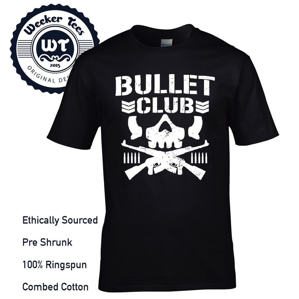 Bullet Club Pro Wrestling Available In Variety Of Colours 100% Cotton Men'S T-Shirt Birthday Gift