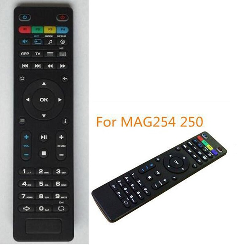 Replacement Tv Remote Control For Mag250 254 256 260 261 270 Iptv Tv Box  Black