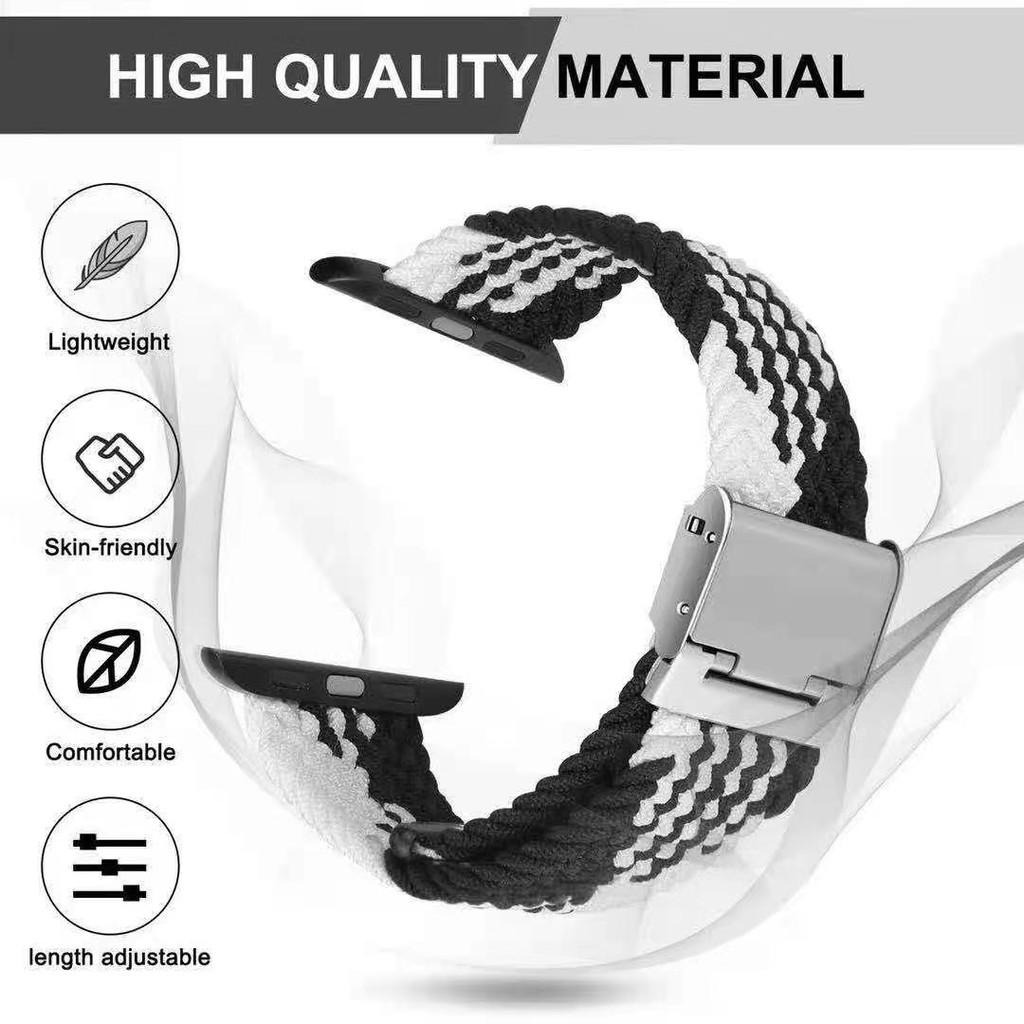 สาย AppleWatch Nylon Braided Solo Loop Strap สายนาฬิกา Apple Watch Elastic Bracelet iWatch Series 6/5/4/3/2, Apple Watch