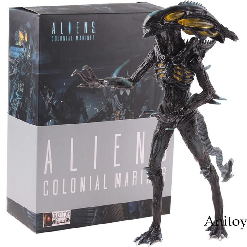 NECA Aliens 3 Alien Xenomorph Predator Riple 2 faces Figurine Collection 18cm