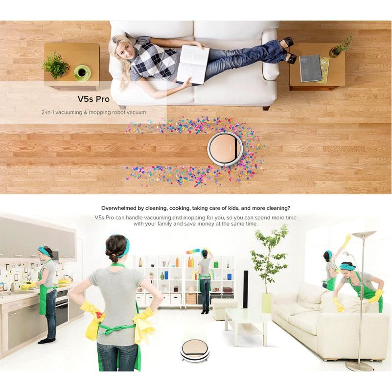 New ILIFE V5S Pro Smart Robotic Vacuum Cleaner Cleaning Machine for Floor Carpet