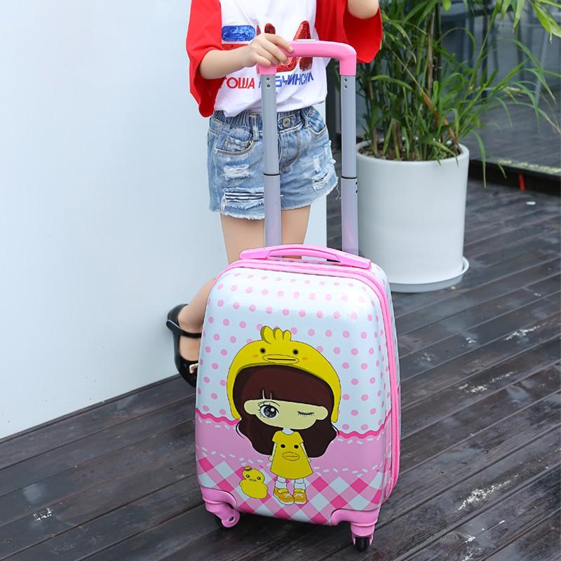 ヹ♋กระเป๋าเดินทางเด็ก  กระเป๋ารถเข็นเดินทางรุ่นเกาหลีของกล่องเด็กนั่งได้ 18 นิ้วกระเป๋าล้อสากลหญิง 16 นิ้วมินิการ์ตูนกระเ