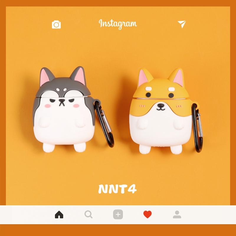 Cartoon Corgi Akita Dog Cartoon AirPods Case Shockproof Earphone Soft Cover