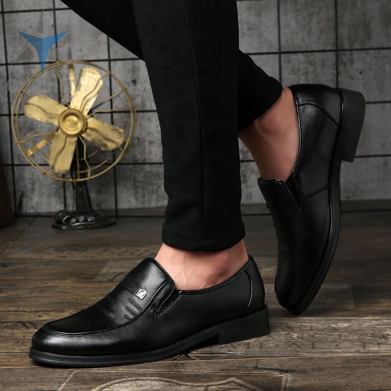 GC⚡ รองเท้า รองเท้าหนังแฟชั่น รองเท้าคัชชู รองเท้าโลฟเฟอร์ ผู้ชาย รองเท้าหนังแท้ loafer รองเท้าหนังแบบผูกเชือก 03