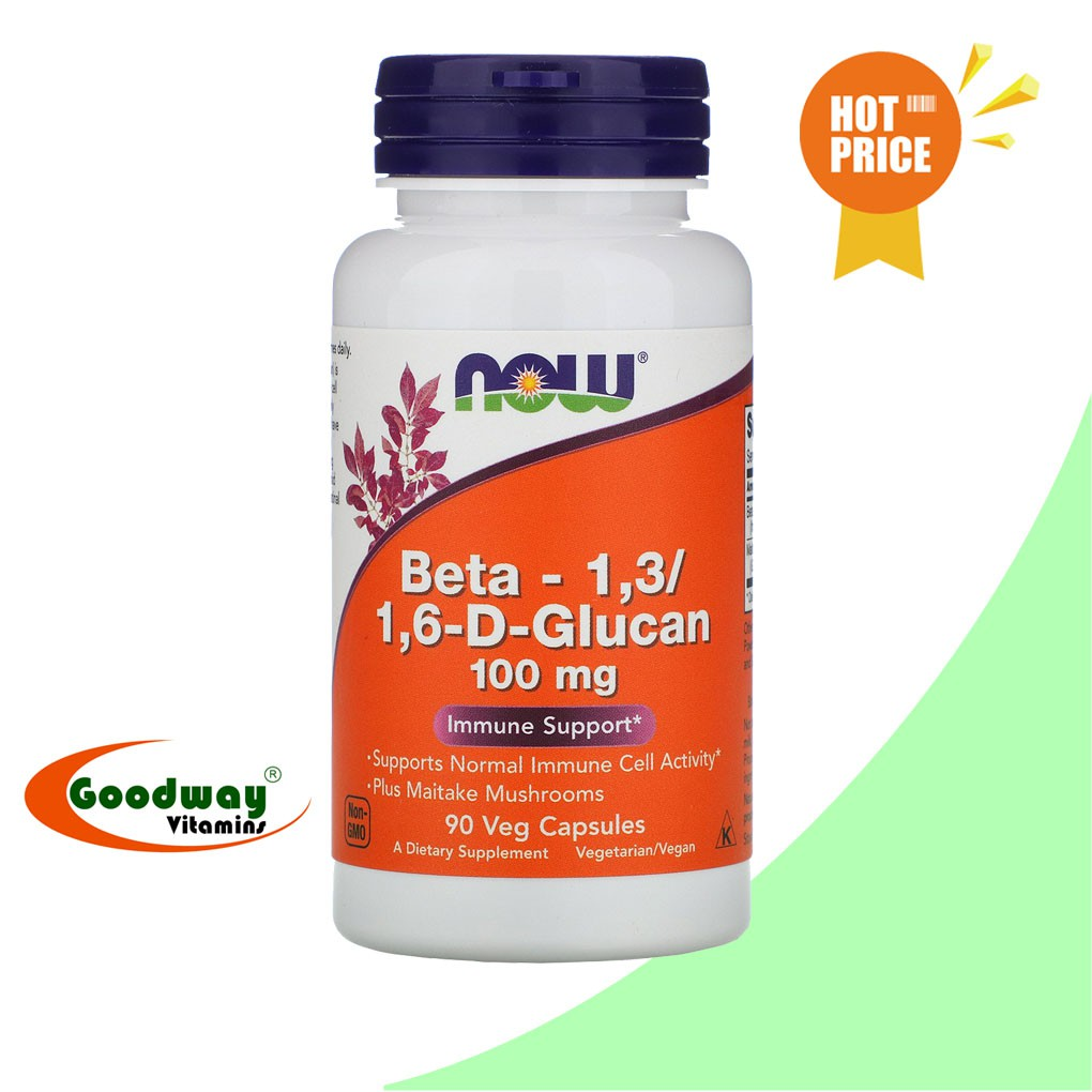 NOW Foods Beta-1,3/1,6-D-Glucan 100 mg - 90 Vegetarian Capsules