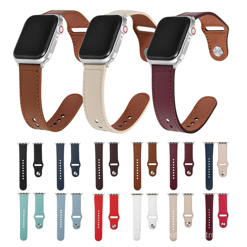 Genuine leather watch band for apple watch 44mm 42mm 40mm 38mm strap for iwatch band series se 6 5 4 3 2 1 Bracelet wris