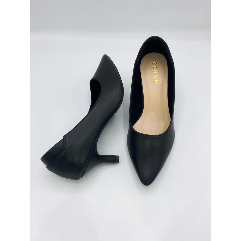 penne เพนเน่ รองเท้าคัชชู รองเท้าทำงาน รองเท้าส้นเข็ม รองเท้าหัวแหลม รองเท้าสีดำ ไซส์ 35-40 พร้อมส่ง!