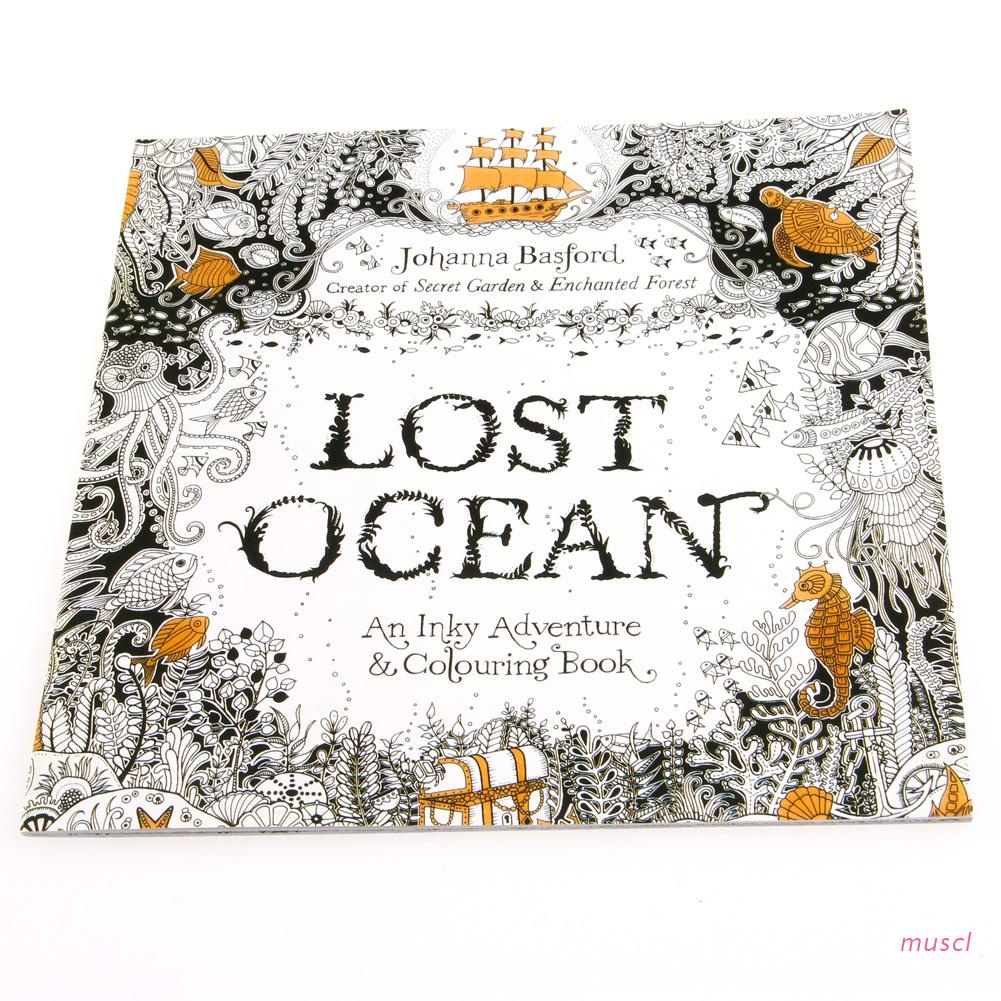 musc Lost Ocean Drawing Coloring Book Graffiti Books Adult Painting Children New