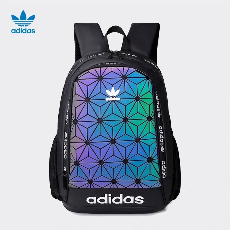 Adidas backpack men's clover diamond sports backpack outdoor travel bag campus male and female student schoolbag