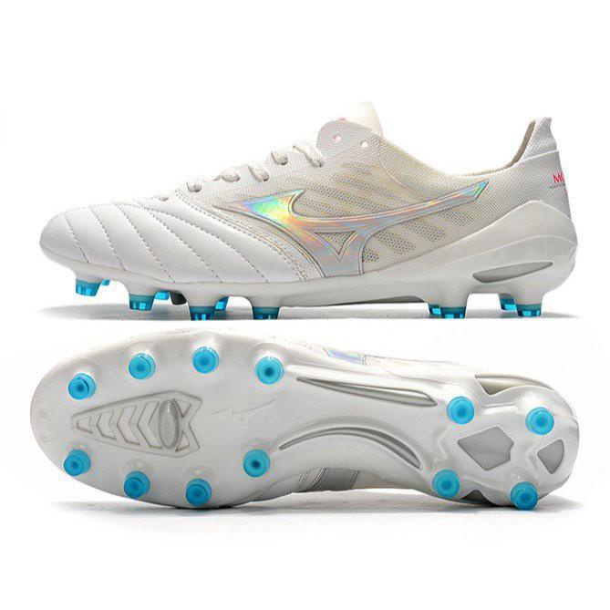 ️️️️ **ของแท้ 100%️**Mizuno Morelia Neo II Made in Japan MIZUNO รองเท้าฟุตบอลหนัง Mizuno Nissan FG รองเท้าเทรนนิ่งผู้ชาย