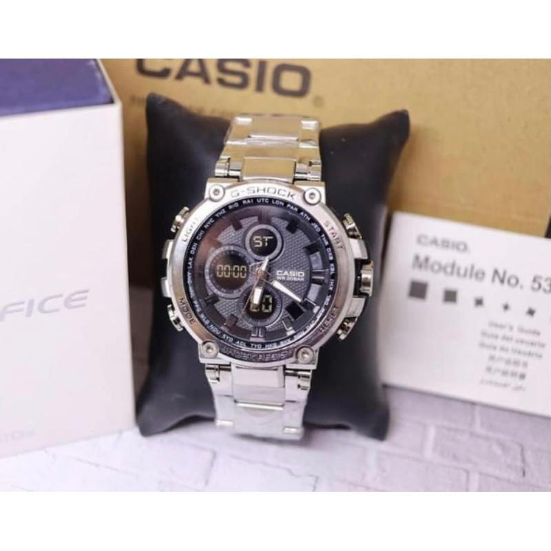 Casio นาฬิกาข้อมือสายสแตนเลส Gshock 7177