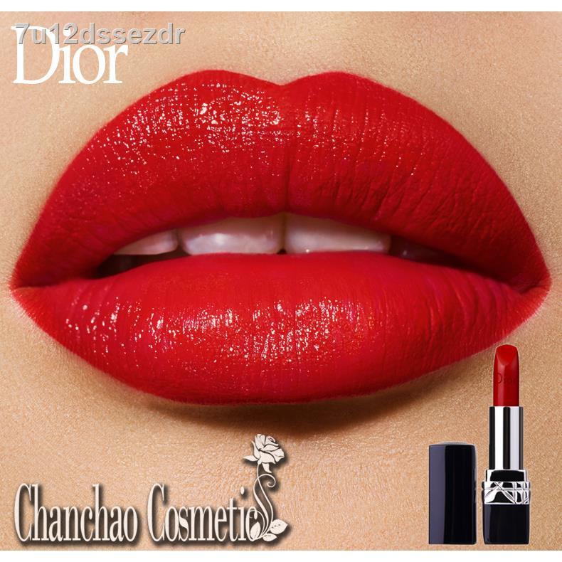 🔥แต่งหน้า🔥✢2021 Dior Lip Glow Rouge Matte Lipstick Couture Color Comfort and Wear Lipstick, 999 ดอร์ดิออร์ลิป