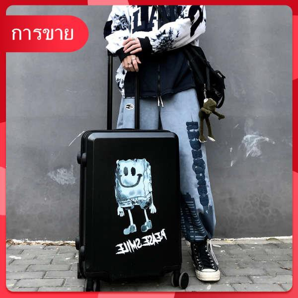 Diablo กระเป๋าเดินทางนักเรียนชาย 24 นิ้วการ์ตูนกระเป๋าเดินทางล้อสากลหญิง 26 วินาทีหยวน 20 นิ้วกระเป๋าเดินทางขึ้นเครื่อง