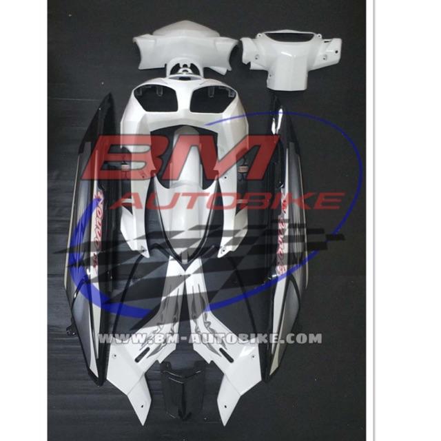 NOUVO MX ชุดสีนูโว MX สีขาว/ดำ เฟรมรถ กรอบรถ