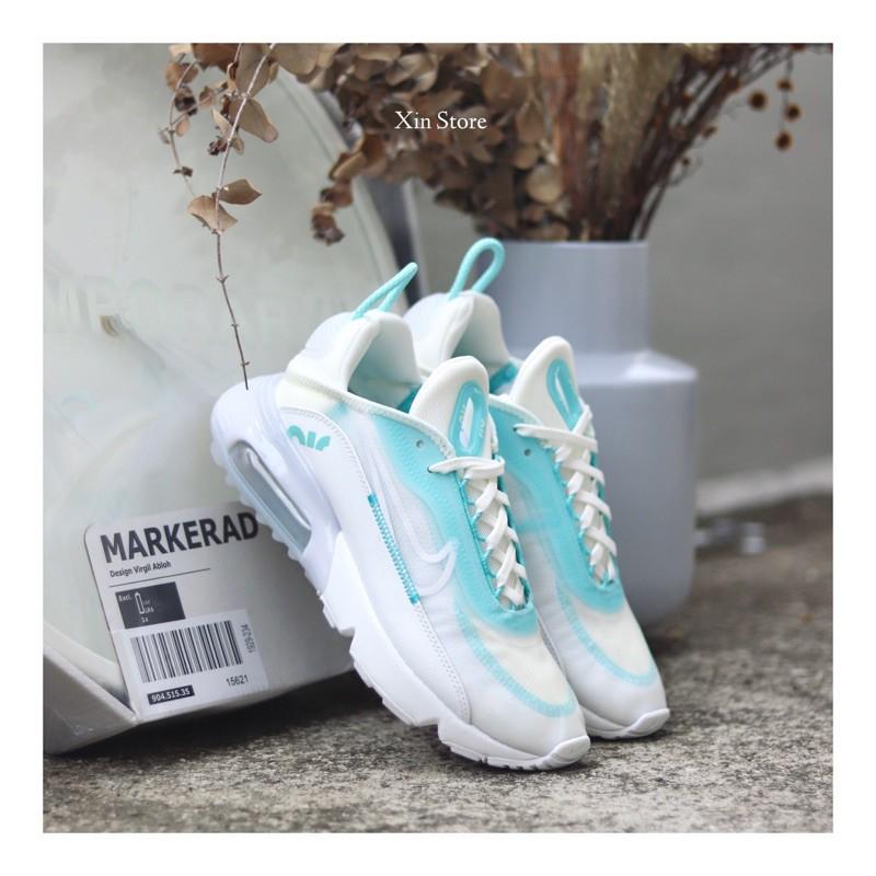 รองเท้าจ็อกกิ้ง Nike Air Max 2090 Air Cushion Tiffany Green