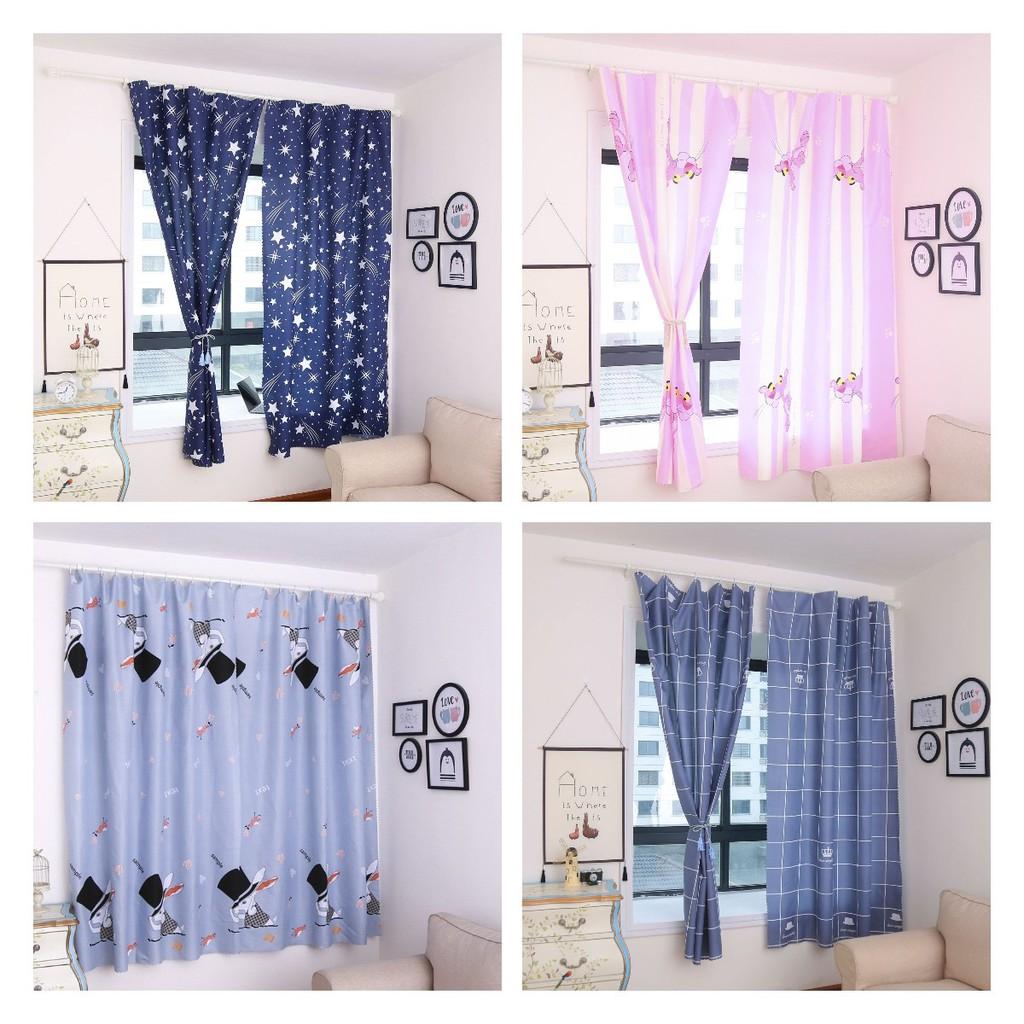 ผ้าม่านหน้าต่าง ผ้าม่านประตู ผ้าม่าน UV สำเร็จรูป กั้นแอร์ได้ดี และทึบแสง กันแดดดี ติดแบบตีนตุ๊กแก 1*2.1m ม่าน
