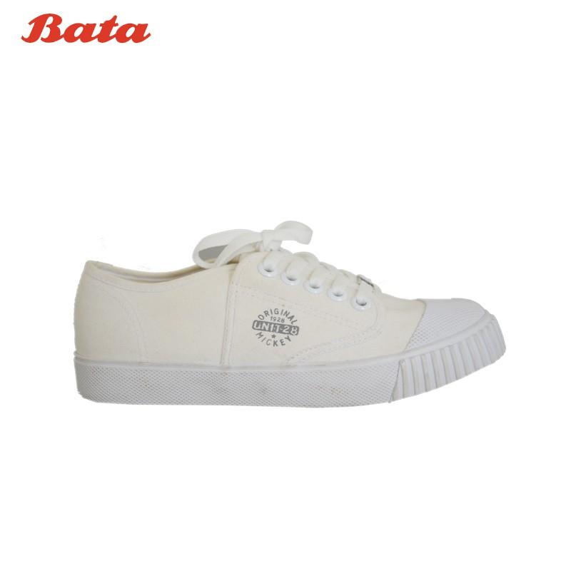 BATA Disney SCHOOL SPORTS รองเท้านักเรียนผ้าใบ CLASSIC MICKEY สีขาว รหัส 8291612