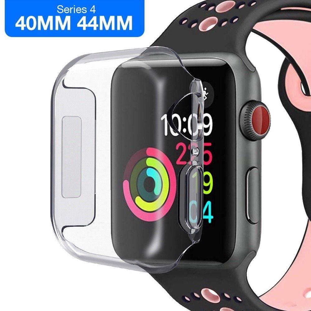 ฟิล์มกระจกนิรภัย Apple Watch Series 5 4 + เคส TPU 40 / 44 มม.