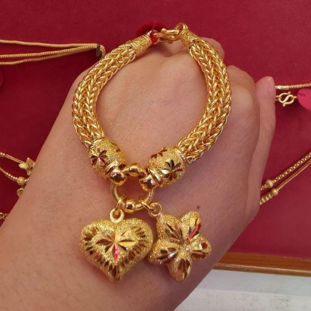 สร้อยมือทอง 96.5%  น้ำหนัก 2 บาท ยาว 16.5-18.5cm ราคา 55,800บาท