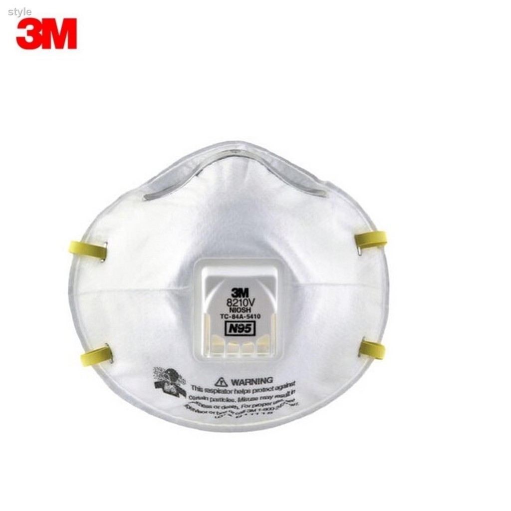 3M 8210V N95 ชนิดมีวาล์ว (1ชิ้น) หน้ากากป้องกันฝุ่น Valved PM2.5 8210 (เอ็น95)ส่วนลด