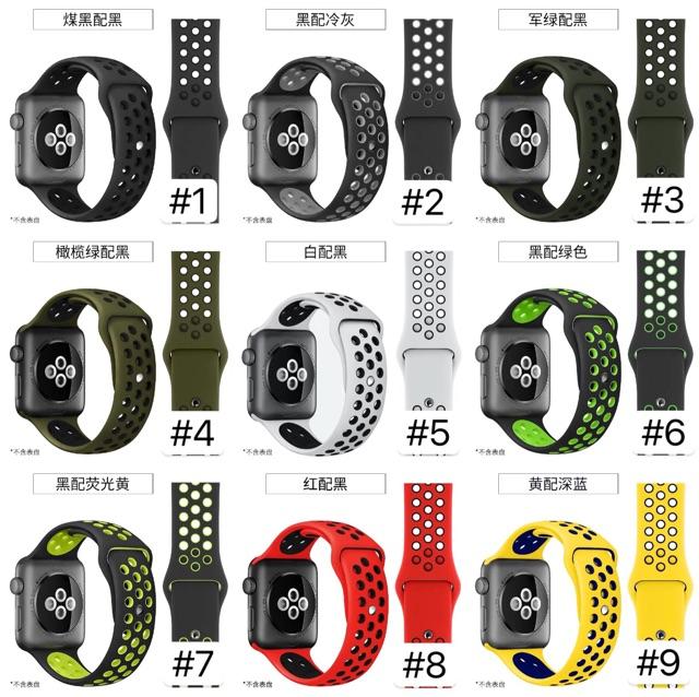 iluพร้อมส่ง[AW002]Apple watch (แบบสายสั้นS/M)series1/2/3/4/5 Nike sports สายนาฬิกาIwatch JGoW
