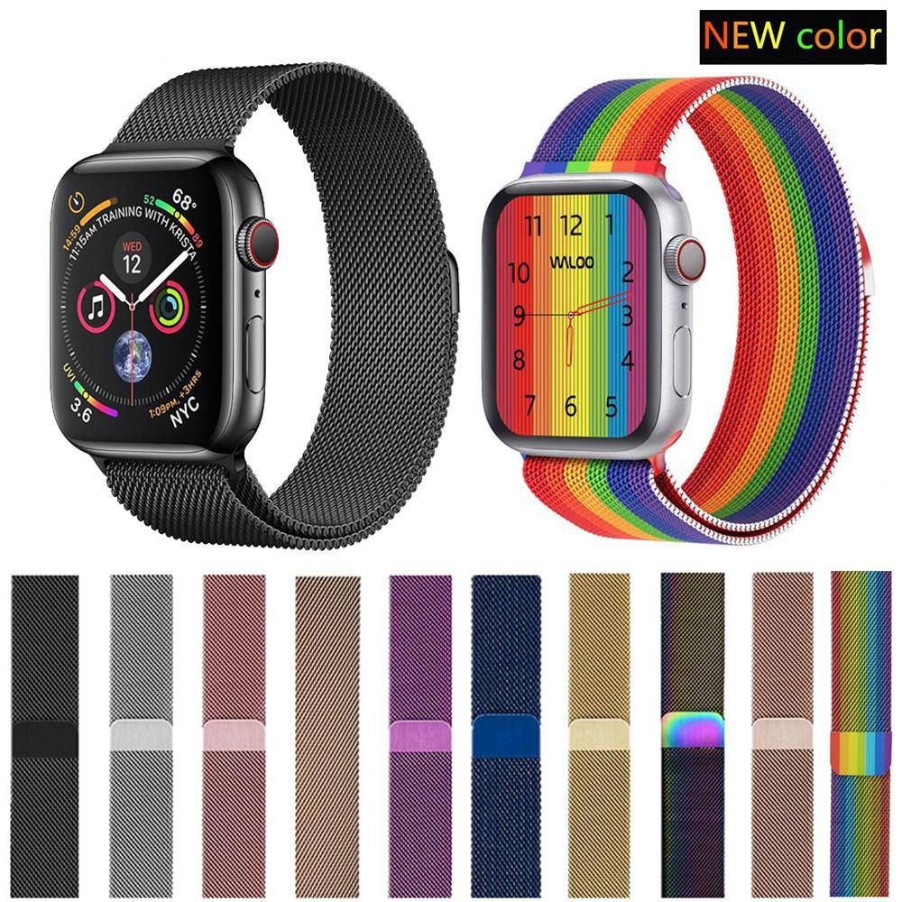 สาย applewatch สายนาฬิกา applewatch สายเปลี่ยนนาฬิกาข้อมือสายนาฬิกาข้อมือ Apple Watch Milanese Loop Series 1 / 2 / 3 / 4
