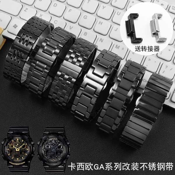 สายนาฬิกา casio  สายนาฬิกา 20mm Casio GA100 110 120 GA400 GA700 ชายสแตนเลส