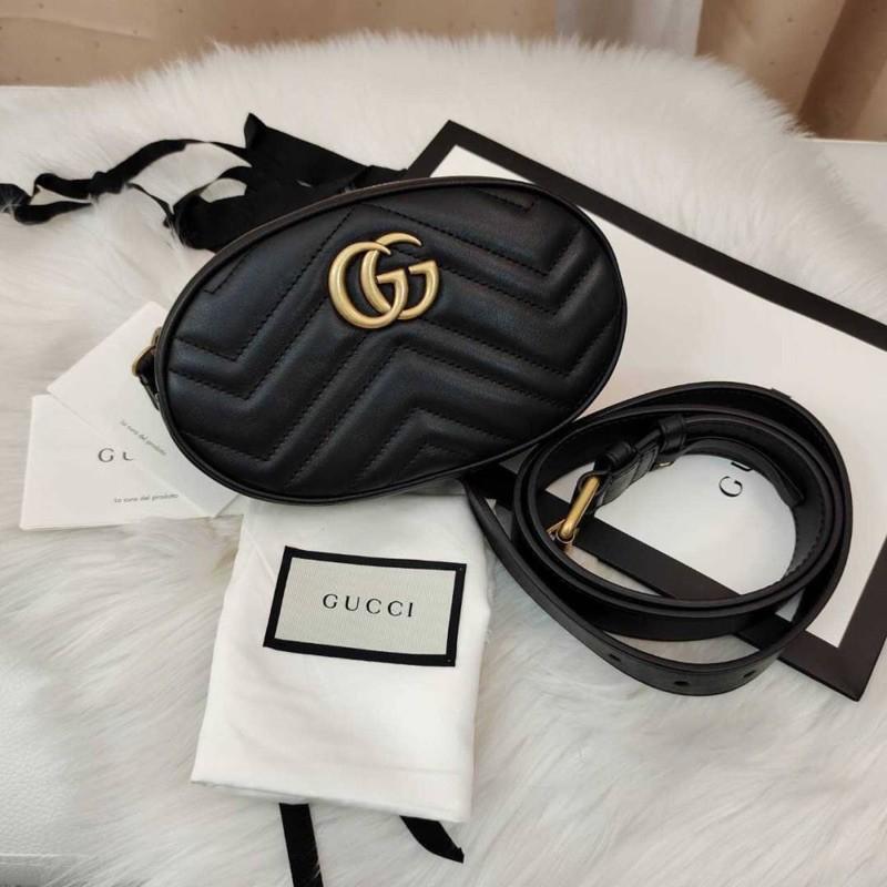 ผ่อน0% GUCCI GG Marmont Matelassé Leather Belt Bag