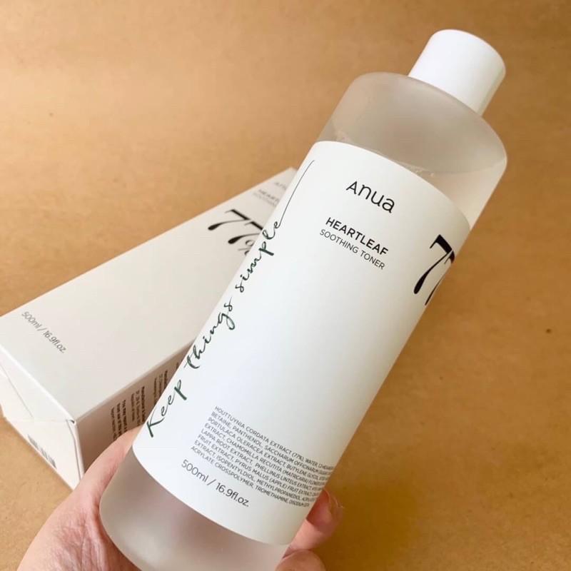 Anua heartleaf 77% soothing toner  ขนาด 500 ml