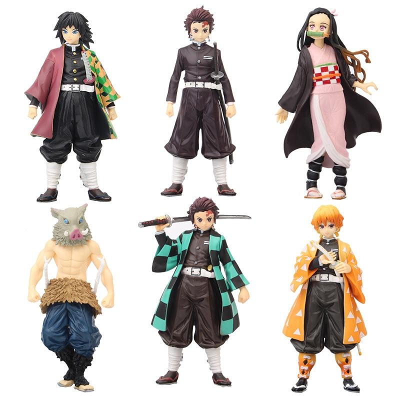Kimetsu No Yaiba Figure Tanjirou Nezuko Inosuke Figurine Anime Demon Slayer Action Figure Slayer Sword Figures Model