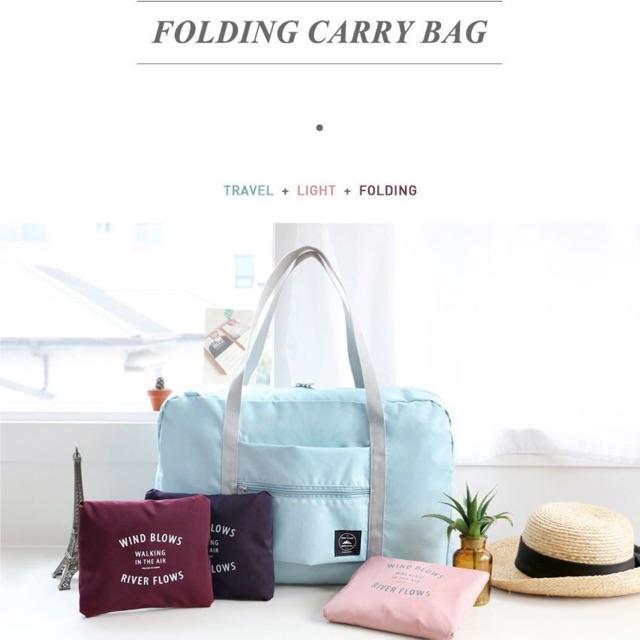 กระเป๋าสำรองล้อลาก กระเป๋าเดินทางพกพา กระเป๋าเสริมล้อลาก กระเป๋าเดินทางพับเก็บได้ มีช่องสอดกระเป๋าเดินทางล้อลาก