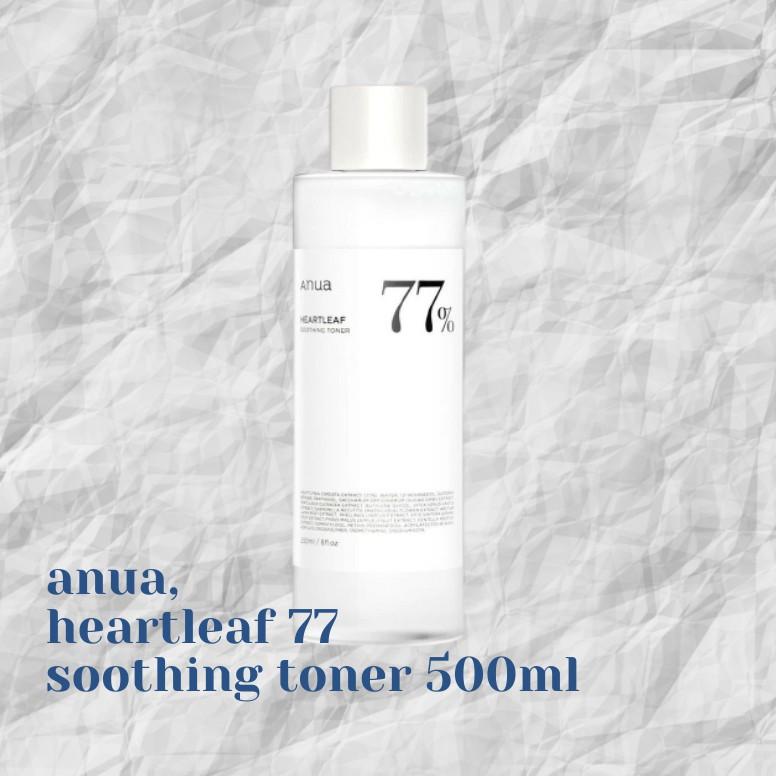 Anua heartleaf 77% soothing toner 500 ml🖇 จัดส่งฟรี REG