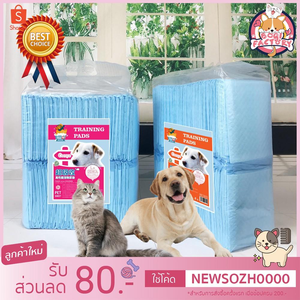 Boqi Factory แผ่นรองฉี่ Cocoyo แผ่นรองฉี่แมว แผ่นรองฉี่สุนัข ช่วยฝึกขับถ่าย ระงับกลิ่น ซึมซับไดีดี ยิ่งขึ้น Cocoyo.