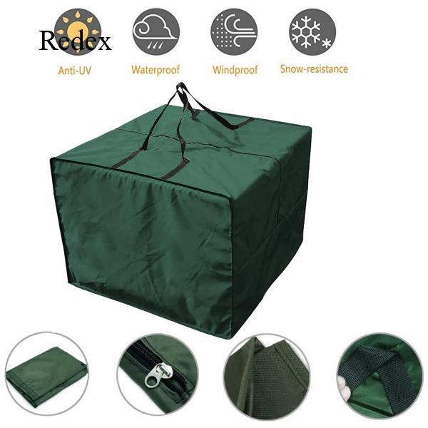 กระเป๋าเก็บของ ทรงสี่เหลี่ยม แบบมีซิป มีที่จับ กันน้ำ ป้องกันรังสียูวี 31.88x31.88x24.01 นิ้ว