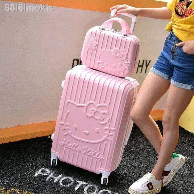 ۞✲✐การ์ตูนรถเข็นกรณี เจ้าหญิงเด็กเด็กแม่กรณี 20 นิ้วนักเรียนประถมกระเป๋าเดินทางขนาดเล็กลากกระเป๋าเดินทางกระเป๋าเดินทางกร