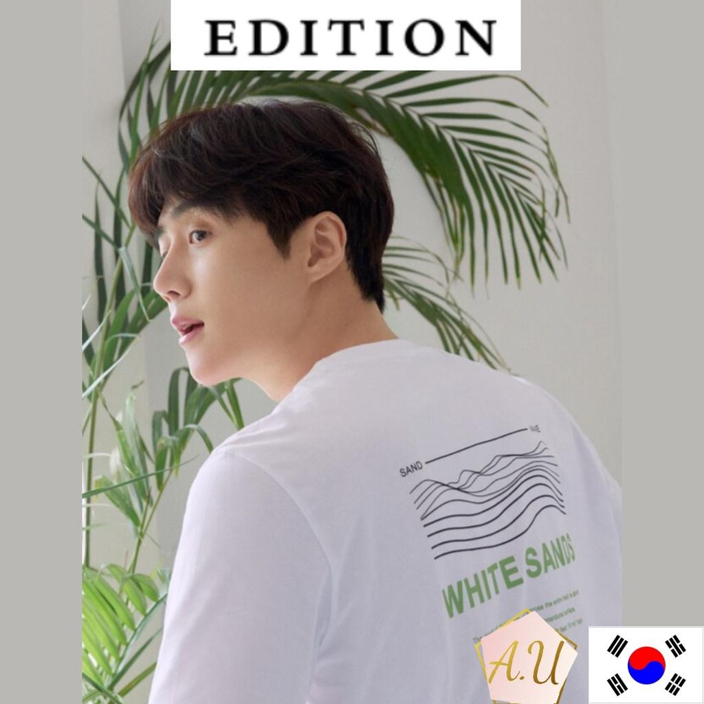 [EDITION] Edition sensibility kim seon ho white sand T-shirt kim seon ho merch men clothes korea fashion kim seon ho mer