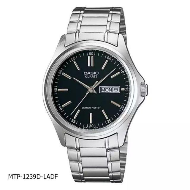 นาฬิกาข้อมือผู้ชาย CASIO รุ่น MTP-1239D สายสแตนเลส รับประกัน1ปี ของแท้แน่นอน 💯% ส่งพร้อมกล่อง
