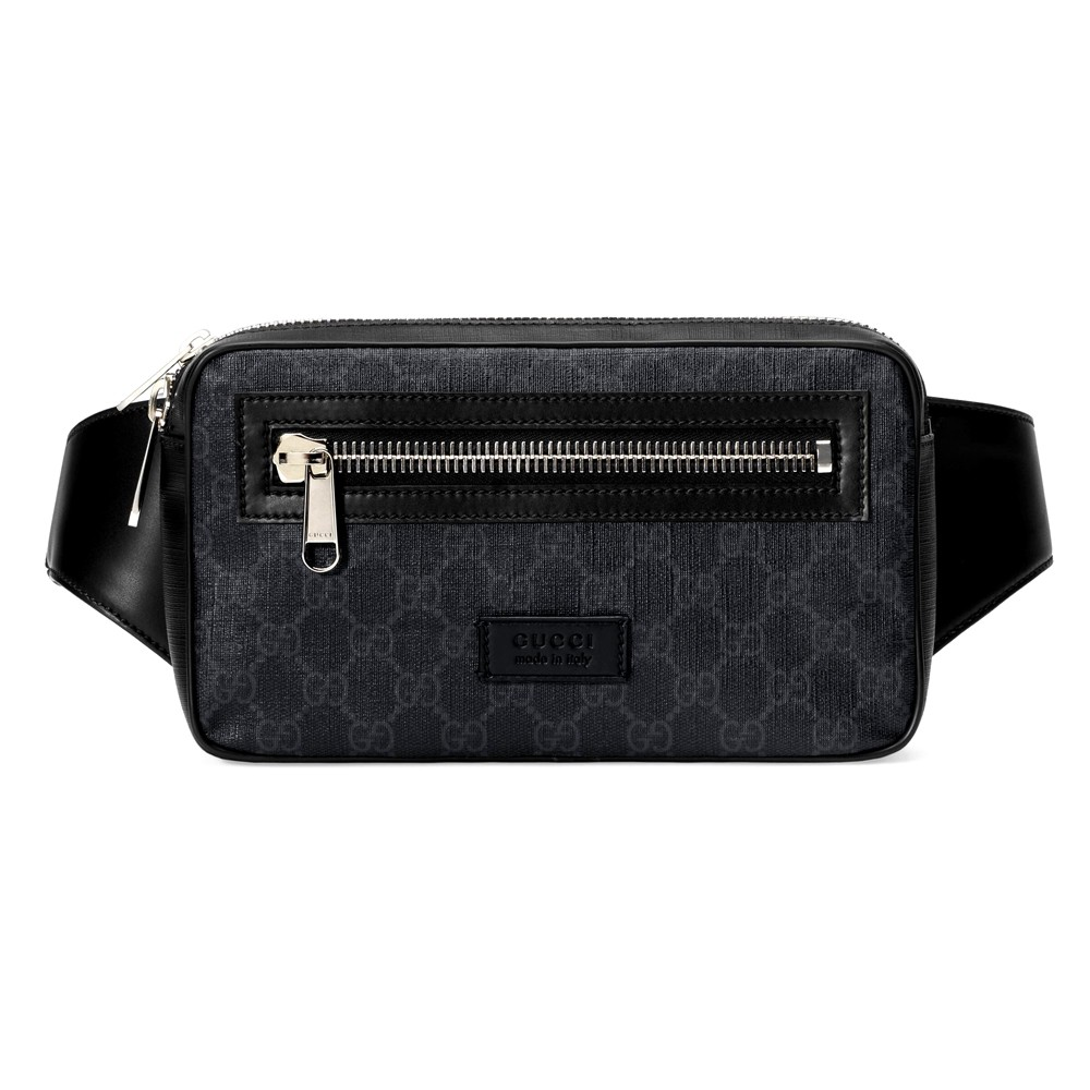 กระเป๋า GUCCI GG BLACK BELT BAG (BLACK/GREY) [MC474293K9RRN1095-CV]
