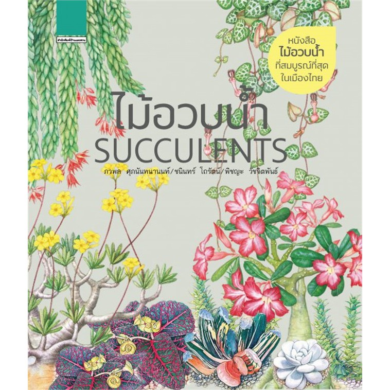 (พร้อมส่ง) ไม้อวบน้ำ SUCCULENTS (ปกแข็ง)/ ภวพล ศุภนันทนานนท์ / หนังสือใหม่