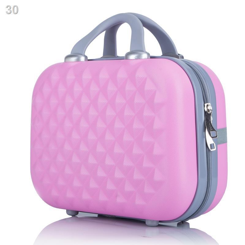 ♂✣☢> กระเป๋าเครื่องสำอางขนาด 14 นิ้ว, กระเป๋าเดินทางขนาดเล็ก, กระเป๋าใส่เครื่องสำอางสำหรับผู้หญิง, เคสขนาดเล็ก, กระเป๋