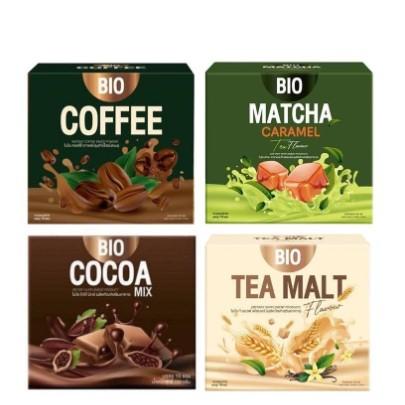 ราคาต่อ 1กล่อง] Bio Cocoa โกโก้ / ชามอลต์ / กาแฟ