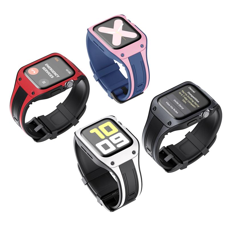 ใช้ได้ครับapplewatchนาฬิกาสมาร์ทแอปเปิ้ลนาฬิกาสายiwatch6/SE/5/4/3/2/1รุ่นใหม่หนึ่งสองสีTPUสายรัด42/44mmวางต้านทานแอปเปิ้ลนาฬิกาข้อมือ