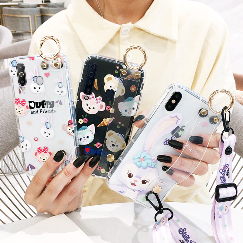 Cool Samsung A6s / a8s / a9s mobile phone case note10 / note10pro cute rabbit transparent 1note5 / note8 / note9