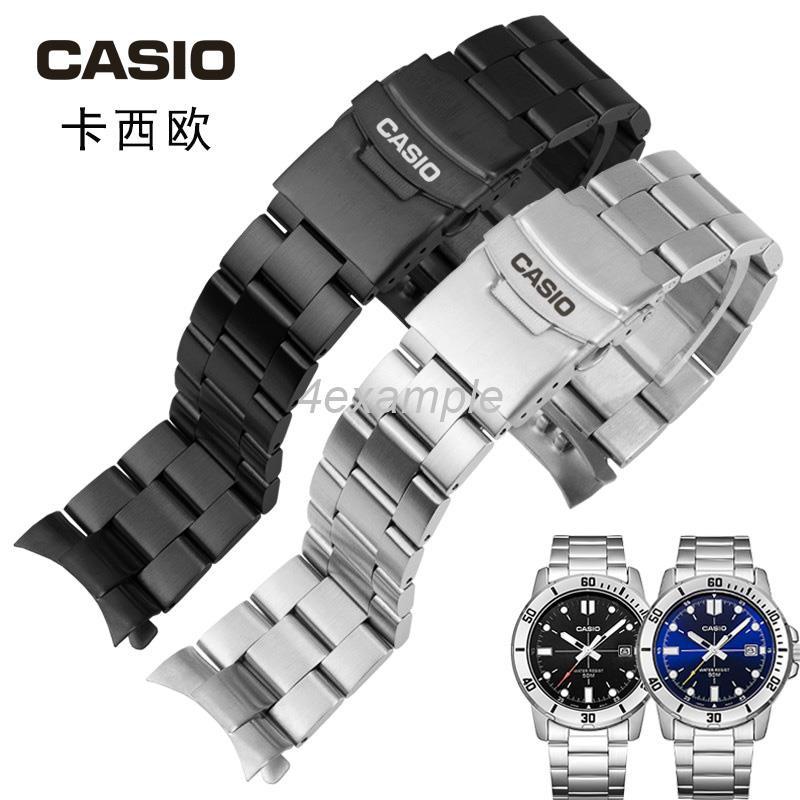 Casio นาฬิกาข้อมือสายสแตนเลส Mdv-106 สําหรับผู้ชาย
