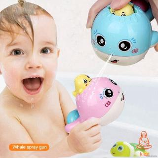 Cute Floating Cartoon Whale Spraying Water Baby Bath Shower