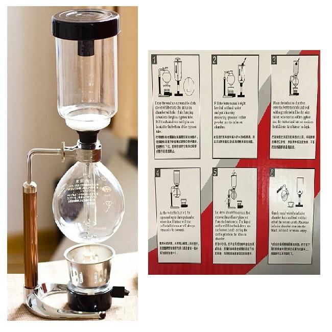 เครื่องทำกาแฟแบบ syphon ขนาด3แก้วทำกาแฟแบบญี่ปุ่น